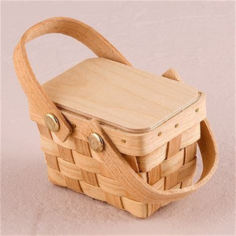 Small Picinic Basket Favor Gift   The Knot Shop