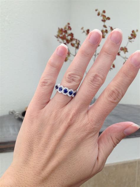 Wearing a band as an engagement ring
