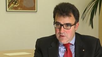 Lluís Salvadó durant l'entrevista a TV3