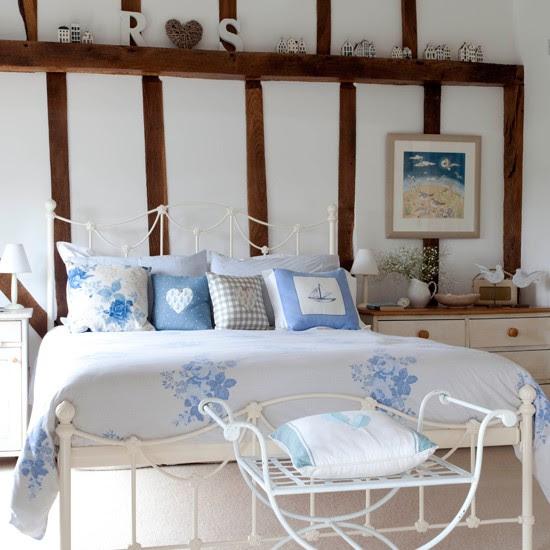 Pastal blue bedroom   Bedroom design idea   Beams   Image   Housetohome