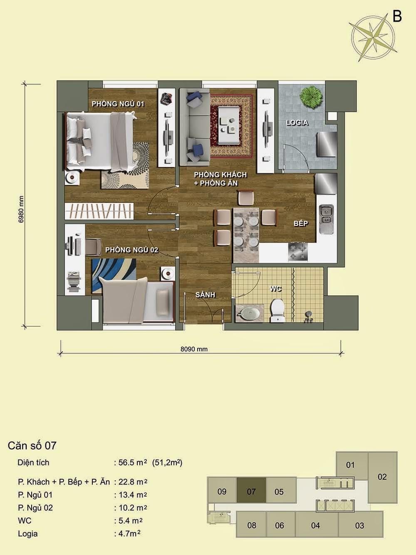 Căn số 07 - Park View Residence