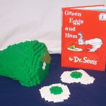 LEGO Green Eggs and Ham Sculpture by Duckingham Design