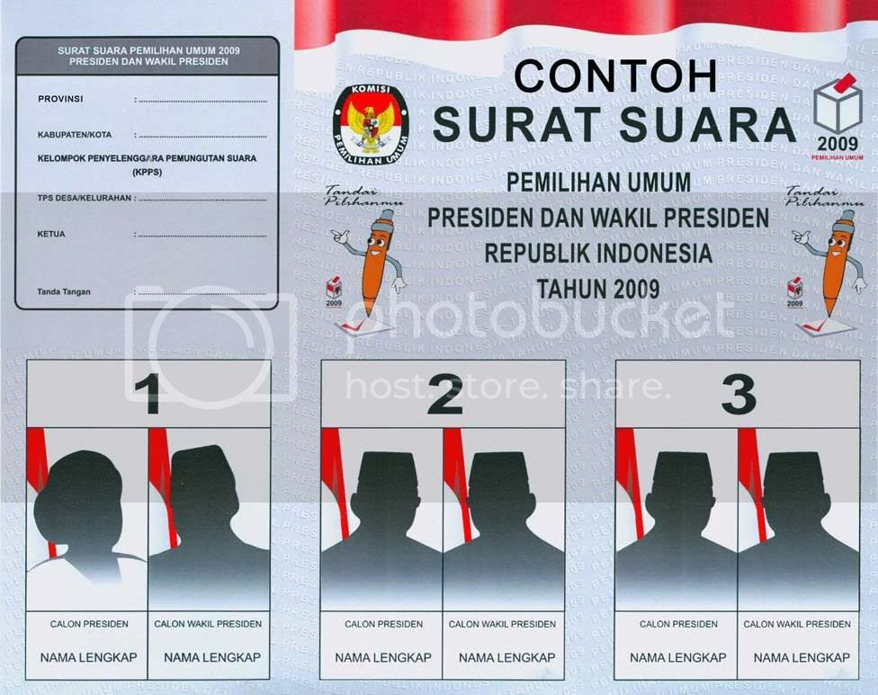 contoh surat suara