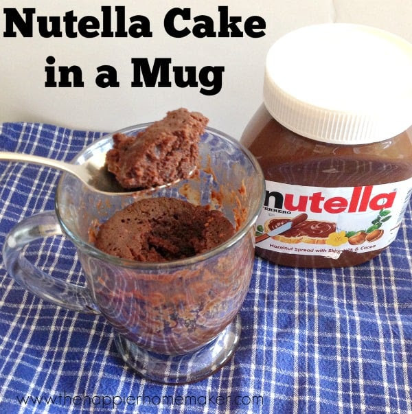 Easy Nutella Microwave Cake in a Mug | The Happier Homemaker