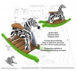 Childrens Zebra Rocking Horse Full Size Layout Wood Plan - fee plans from WoodworkersWorkshop® Online Store - zebras,rocking horses,childrens furniutre,kids,childs,plywood,yard art,painting wood crafts,scrollsawing patterns,drawings,plywood,plywoodworking plans,woodworkers projects,workshop blueprints