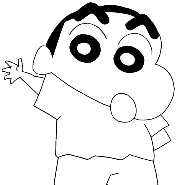 Newest For Outline Shinchan Cartoon Drawing Barnes Family