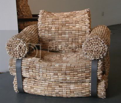 Wine Bottle Corks Armchair