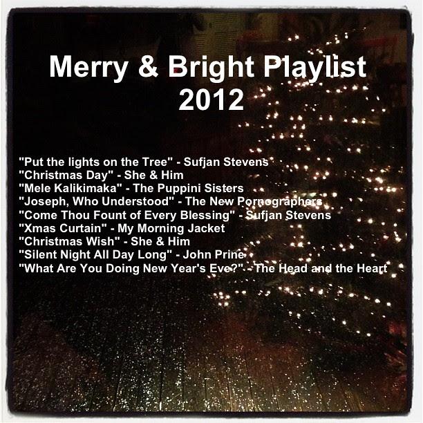 Merry & Bright Playlist 2012