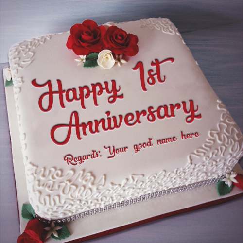 Write Name On Anniversary Cake Online The Cake Boutique