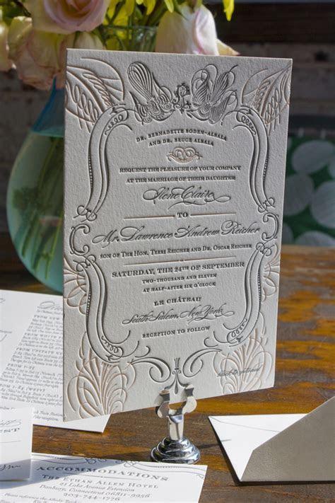 Ilene   Lawrence's Chateau Inspired Formal Wedding Invitations