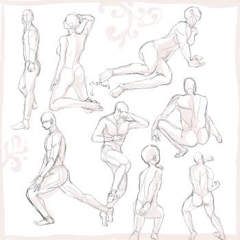 ランダムポーズ イラストお絵描き練習