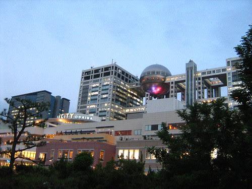 Aqua City and Fuji TV Office