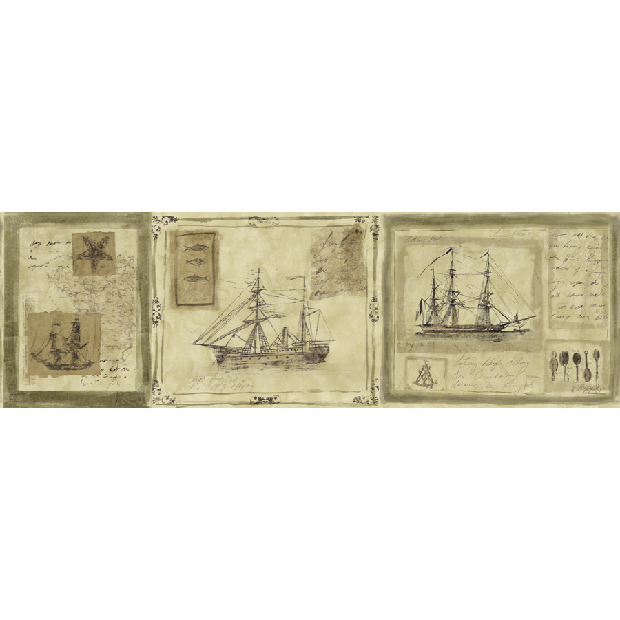 Shop Sunworthy 81\/2\u0026quot; Nautical Ships Prepasted Wallpaper