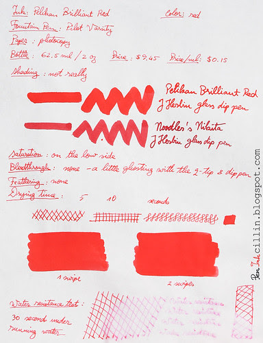 Pelikan Brilliant Red - photocopy