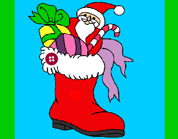 Dibujo De Bota De Navidad Pintado Por Zoeliux En Dibujosnet El Día
