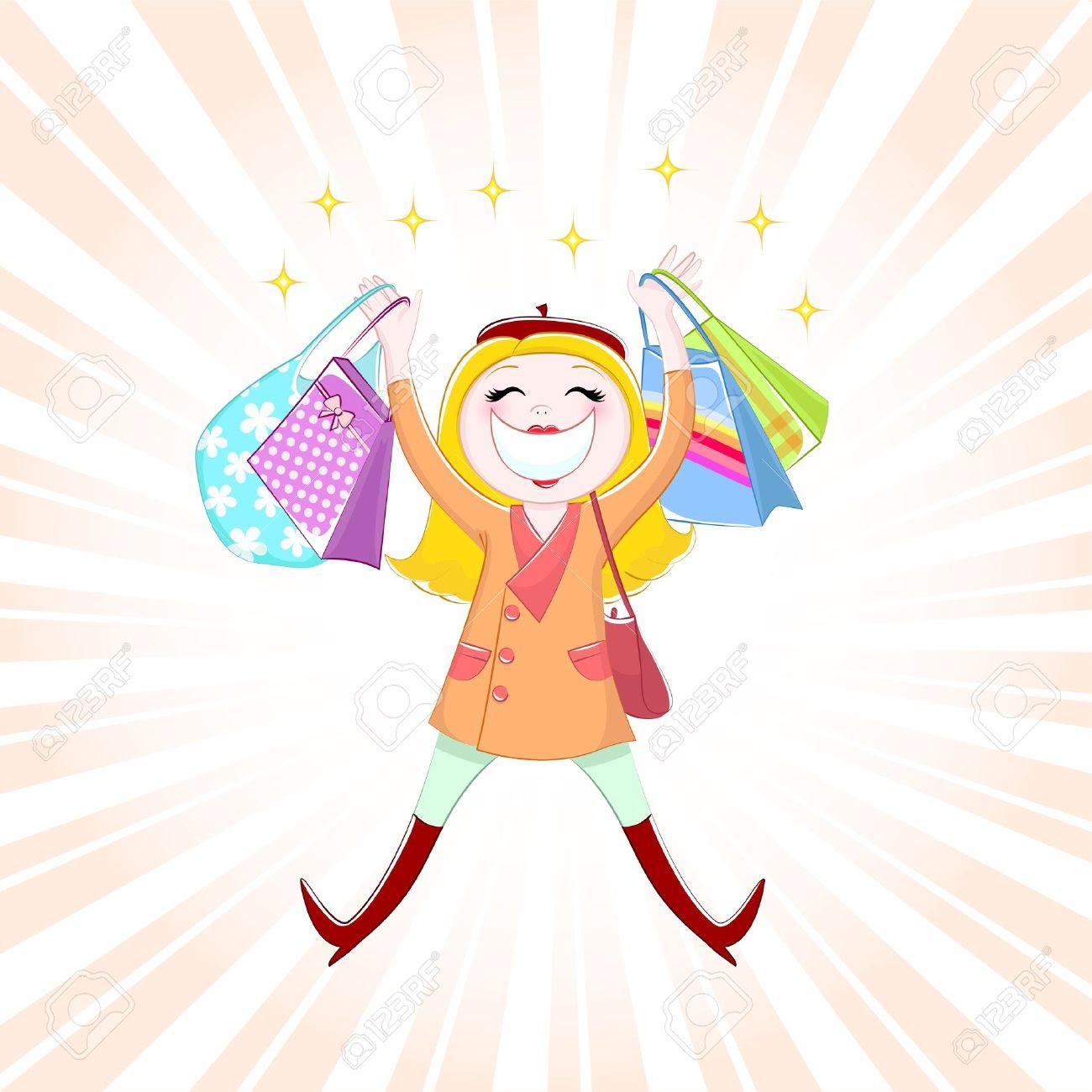 Gambar Kartun Shopping Hijab