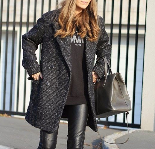 Le Fashion Blog Beanie Weather Vanja Milicevic Loose Curls Boucle Coat Paris Sweatshirt Tote Bag Leather Pants photo Le-Fashion-Blog-Beanie-Weather-Vanja-Milicevic-Loose-Curls-Boucle-Coat-Paris-Sweatshirt-Tote-Bag-Leather-Pants.jpg
