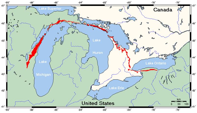 File:Niagara Escarpment map.png