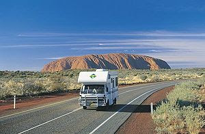Driving - Lasseter Highway to Uluru-Kata Tjuta...