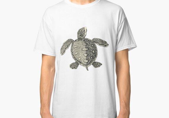 Turtle Vintage Drawing