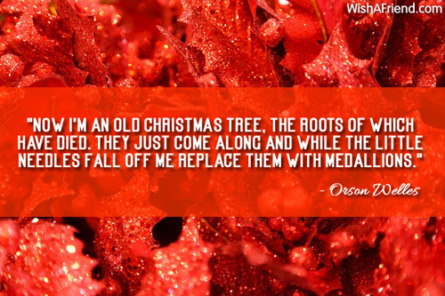 Now Im An Old Christmas Tree Inspirational Christmas Quote