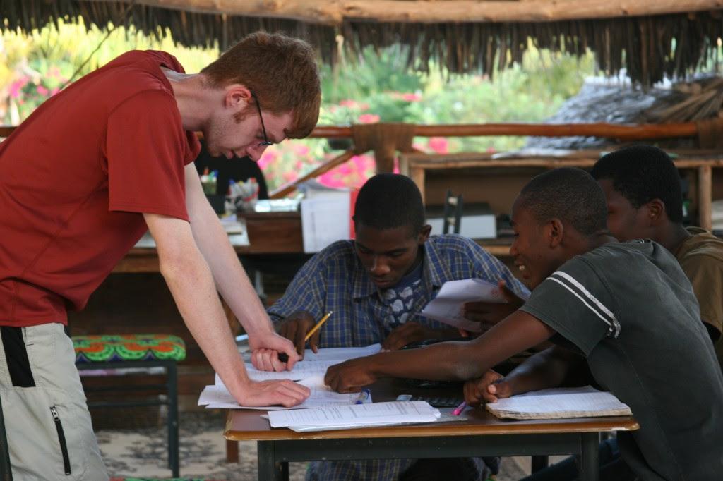 Tanner Mastaw Interns  at Tamani Foundation in Zanzibar