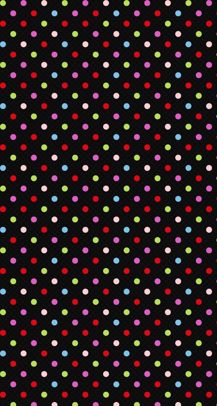カラフル ドット Iphone6壁紙 Wallpaperbox