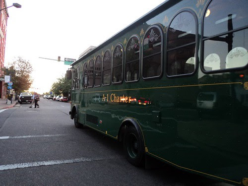 Downtown trolley, Shreveport  by trudeau