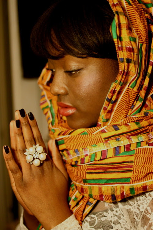 Beautiful woman in kente dress