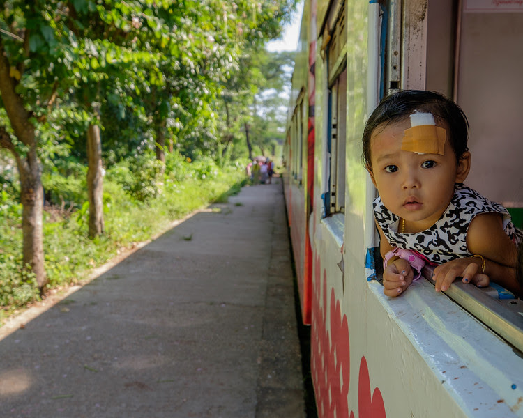 On the circular train, Yangon