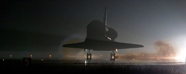 Endeavour touched down at Kennedy Space Center today at 5:39 PM, Pacific Daylight Time.
