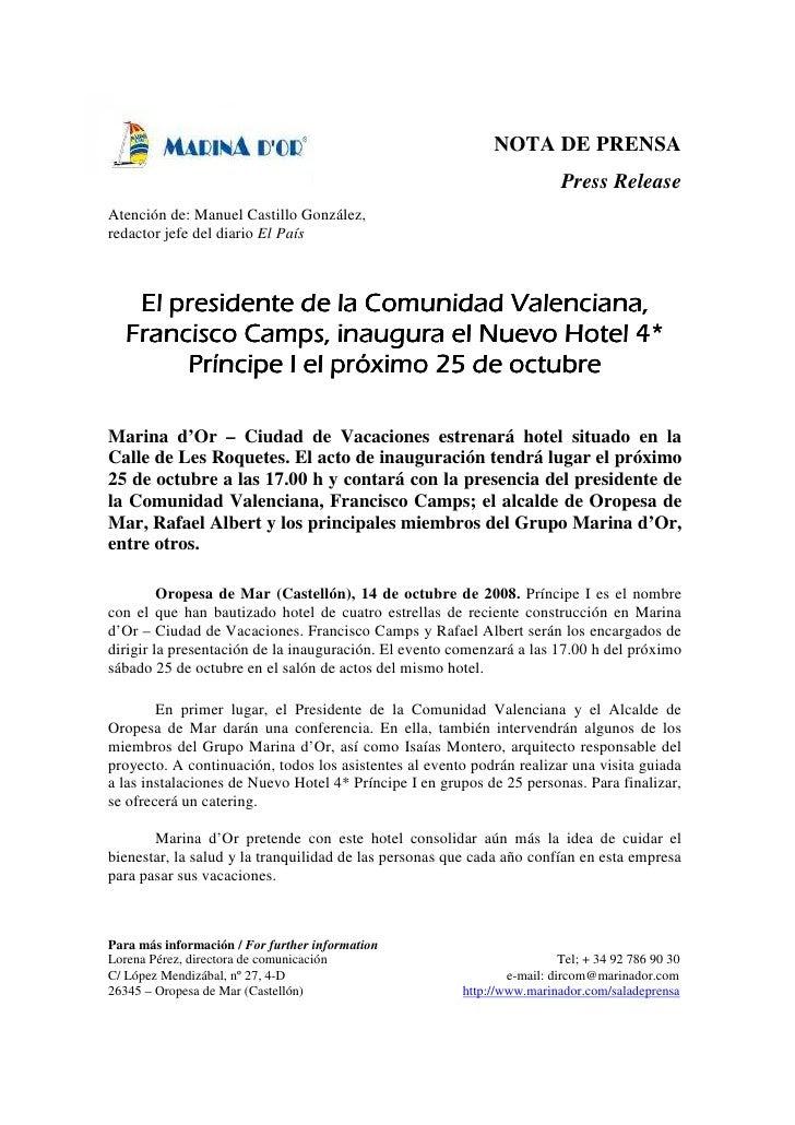 Como Hacer Una Nota De Prensa Ejemplo Colección De Ejemplo