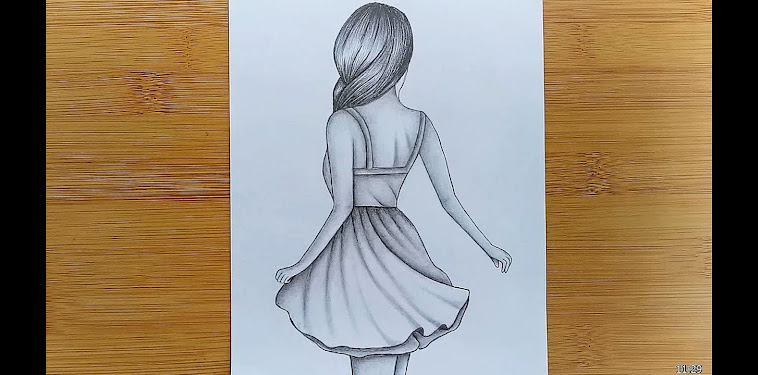 Girl Drawing Easy
