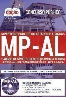 Apostila Concurso MP AL 2018 | CARGOS DE NÍVEL SUPERIOR (COMUM A TODOS - EXCETO ANALISTA DO PM - ÁREA JURÍDICA)