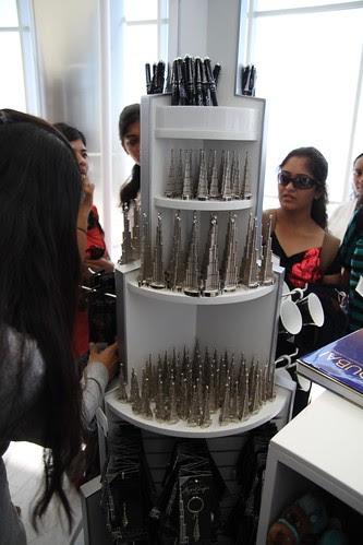 Miniature Burj Khalifas sold at the shop