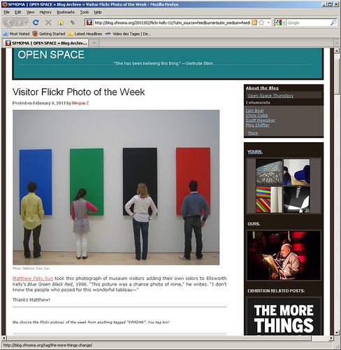 Open Space - SFMOMA Visitor Flickr Photo of the Week