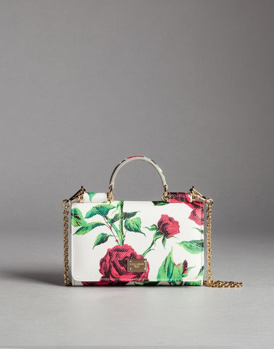 Dolce&Gabbana Rose print calf skin mini von bag