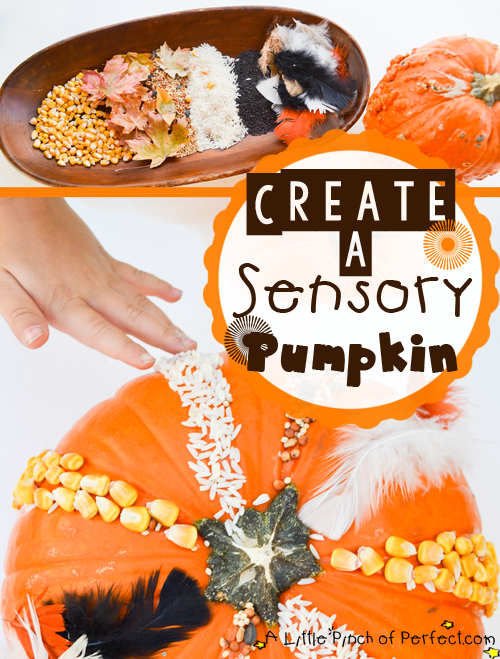 Sensory Pumpkin Craft_title 2 tall Created y A Little Pinch of Perfect