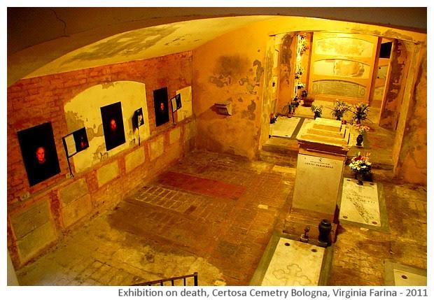 Exhibition of Virginia farina at Certosa cemetery of Bologna