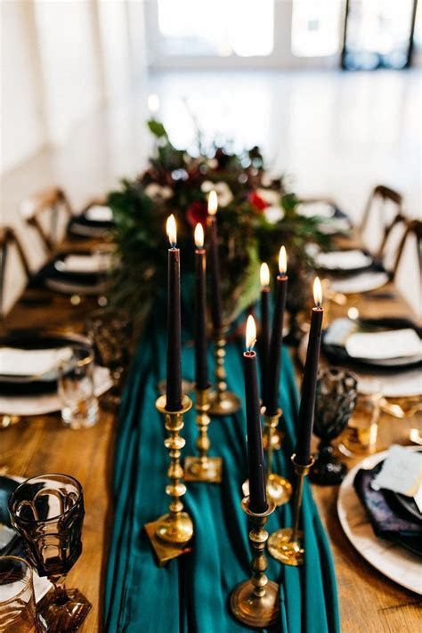 Bright   Moody Modern Boho Bridal Inspo   Tablescapes