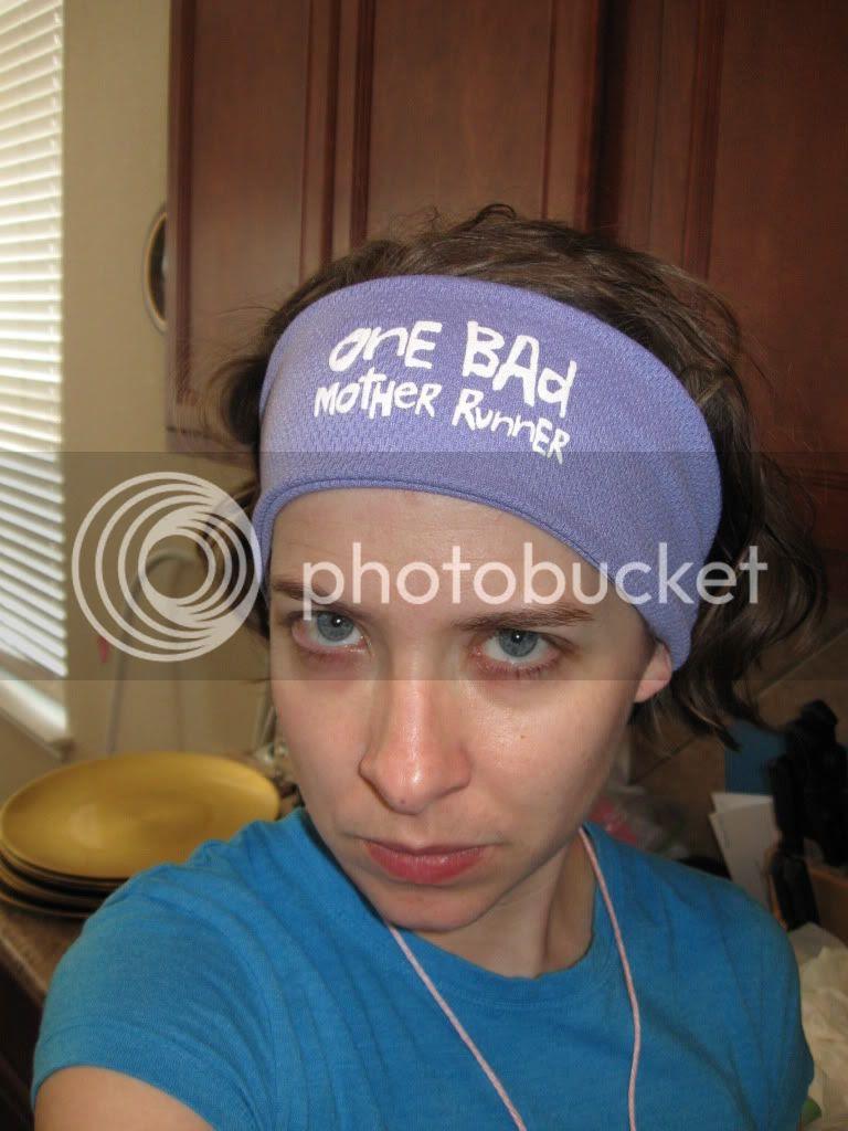 One Bad Mother Runner sweatband headband