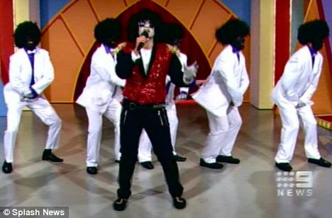 Previous controversy: Channel 9 host Daryl Somers was forced to apologise in 2009 after a viewer skit saw six men in 'blackface', mimicking the Jackson Five