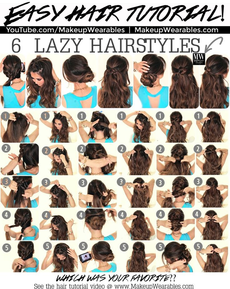 6 Easy Lazy #Hairstyles | #Peinados | 5 Minute #Hair #Style
