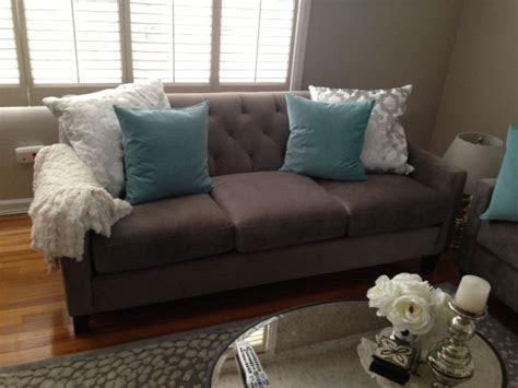 chloe macys sofa aqua ikea pillows white pillows