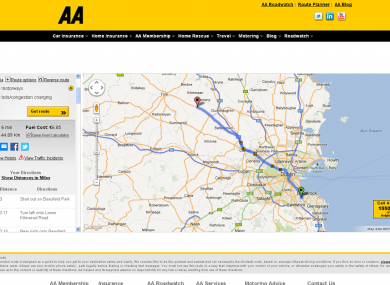 Aa Auto Route Planner Route Planner For Ireland And Abroad 2020