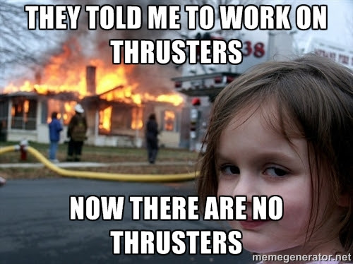 Image result for thrusters meme
