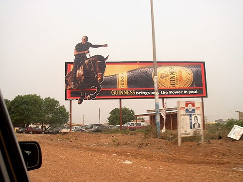 Guiness cowboy Africa style