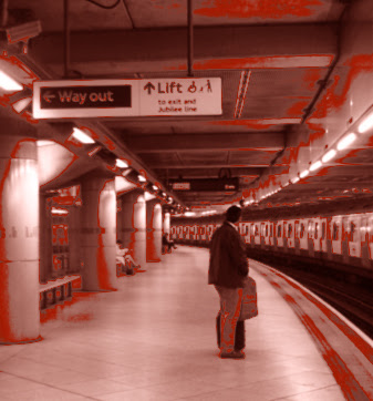Westminster Station used on the cover of Vanishing Point