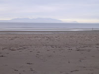 Life's a beach - looking across to Arran
