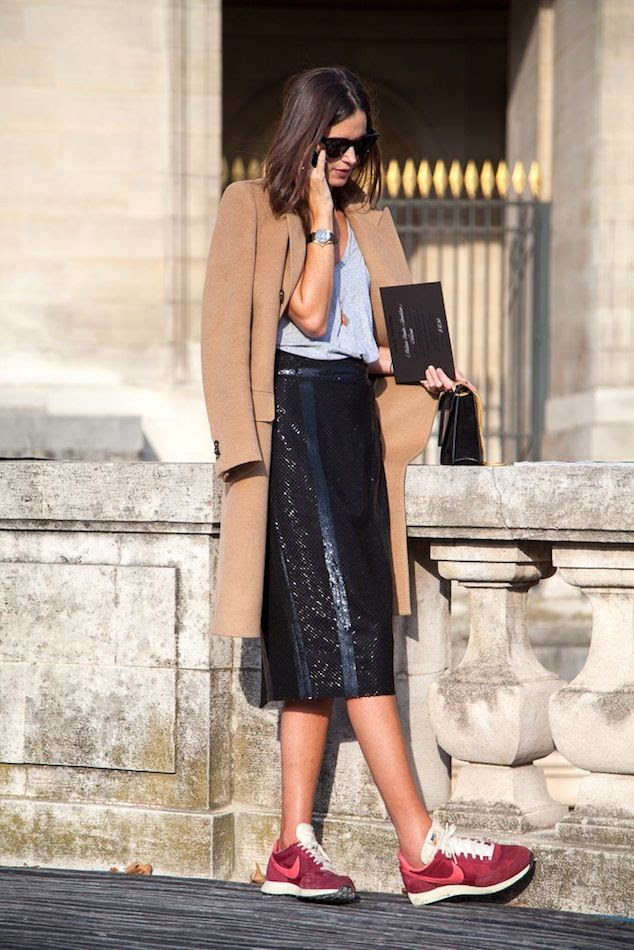 Le Fashion Blog Paris Street Style Camel Coat Black Sequin Midi Skirt Burgundy Nike Sneakers Casual Cool Sporty Via Jolochei photo Le-Fashion-Blog-Paris-Street-Style-Camel-Coat-Black-Sequin-Midi-Skirt-Burgundy-Nike-Sneakers-Casual-Cool-Sporty-Via-Jolochei.jpg
